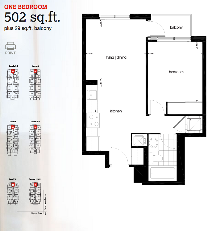 Fuse Condos 1-Bedroom Suite in Toronto